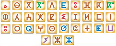 tifinagh letters