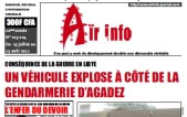 Air Info Tuareg Newspaper front page