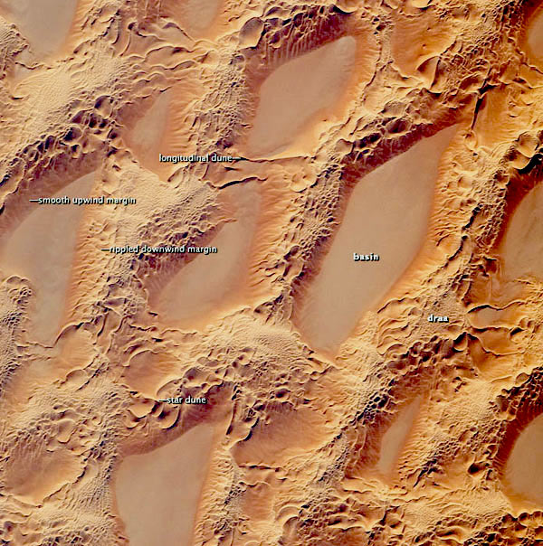 edhan murzuq sand dunes from the sky view
