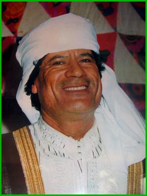 gaddafi smiling