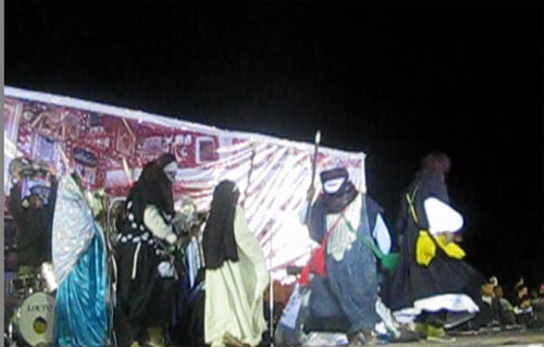 ghadames festival  adults dancing on stage