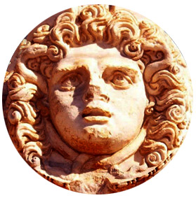 Medusa or gorgon's head
