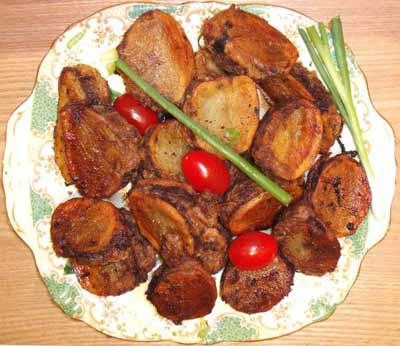 ready to eat mbetten or herb-stuffed potatoes