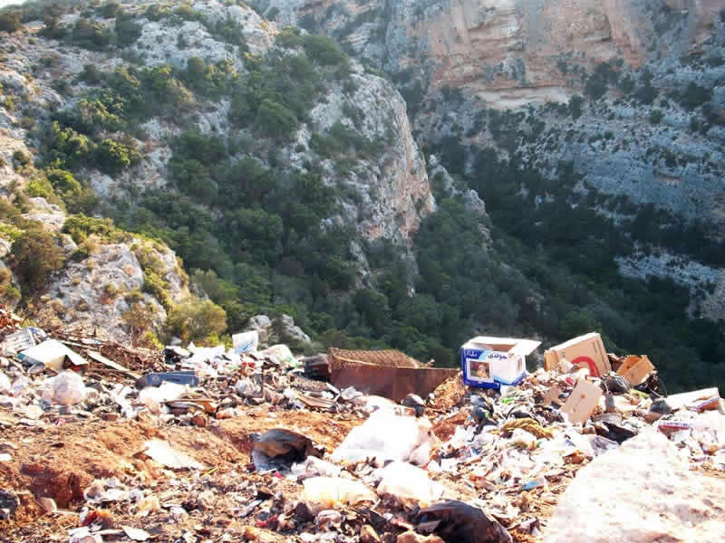 cliffside rubbish dump
