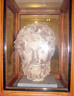 the head of Zeus in a box where it belongs