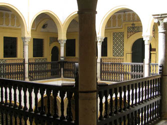 a view of the court and the archs