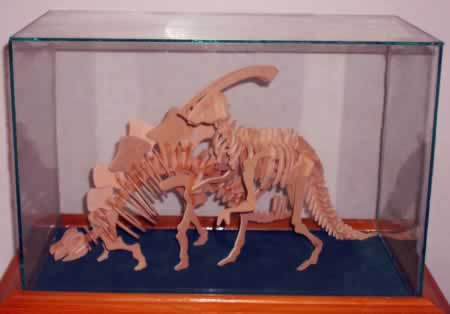 a model of dinosaurs from Nalut