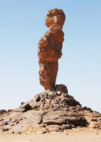 acacus: the finger (the thumb) stone