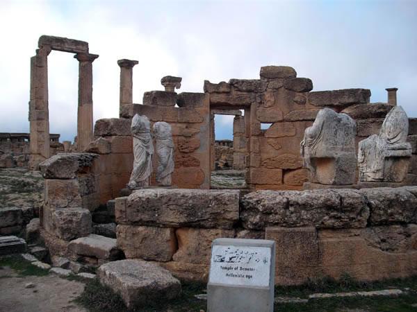 temple of the goddess  Demeter in cyrene