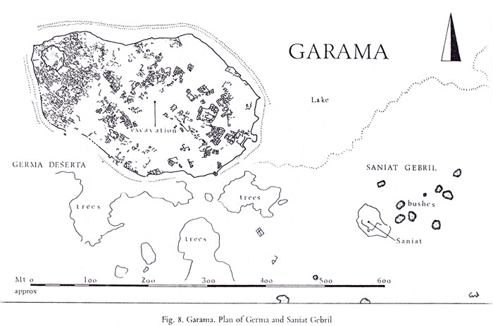 a plan of the ancient city of Germa