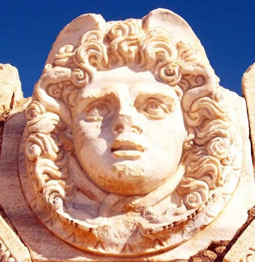gorgon's head from Leptis Magna