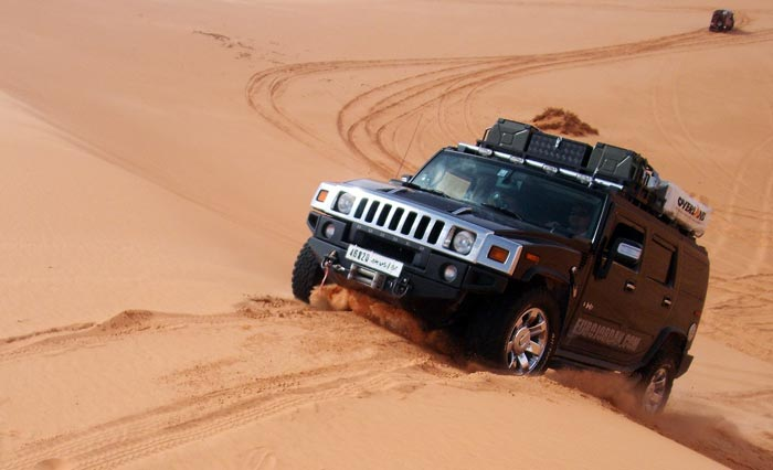 hummer in the Sahara