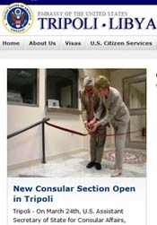 new consular section in Tripoli