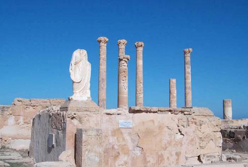 Flavius Tuilus fountain at Sabratha