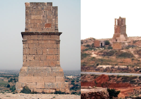 the suffet Roman mausoleum from Yefren