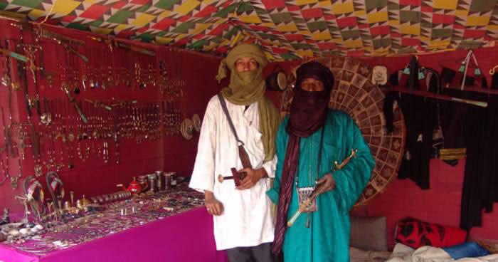 Tuaregs in a tent