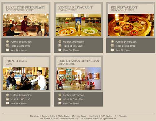 corinthia restaurants