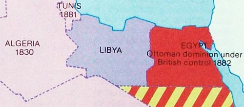 libya map in 1911