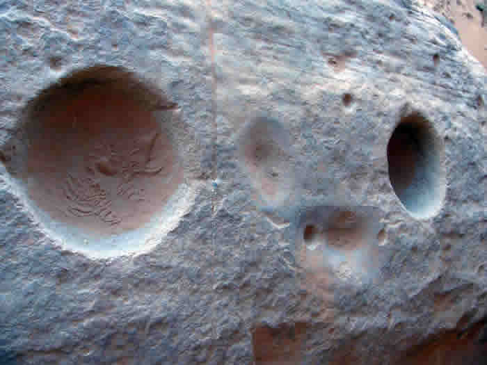 holes in stone from wan imlal
