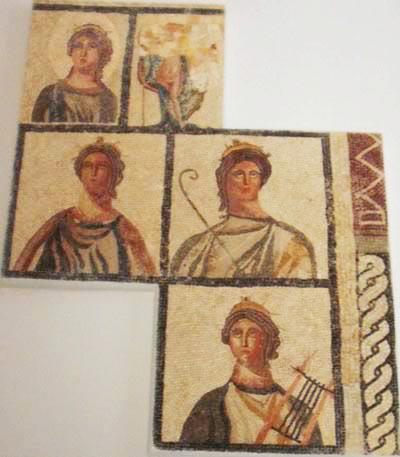 mosaic panels of figures
