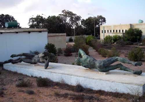 philaeni Brothers bronze statue