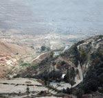 driving up the mountain towards Nalut
