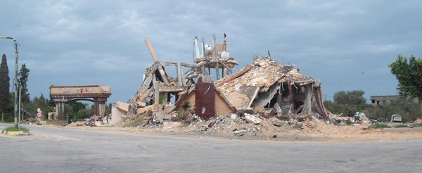delapidated rubble