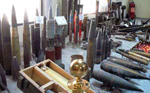 rockets and missiles in exhibition in Mesratha