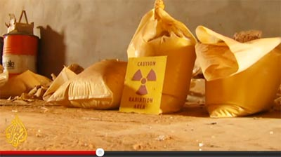 yellow cake (nuclear material) found in Sabha