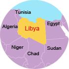 borders of libya