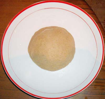 dough now served on a plate