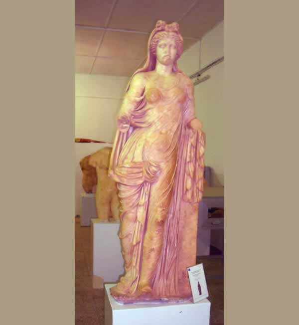 A standing Goddess from Tolmeita, probably of Medusa (the Gorgon)