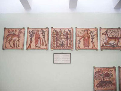 mosaic panels from qasr Libya museum