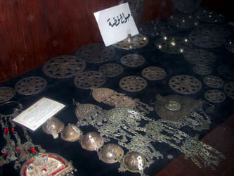 silver jewellery on display