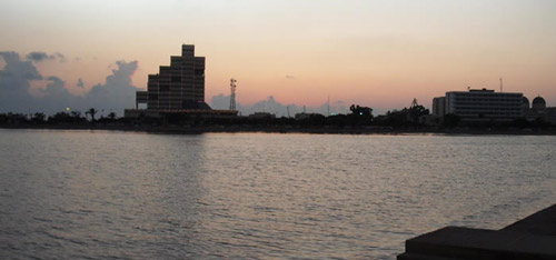 a view of Benghazi city from the lake