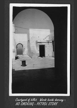 photo of Bardiyah by Cpl W. G. Christian, taken in 1943 - courtyard of  Billet