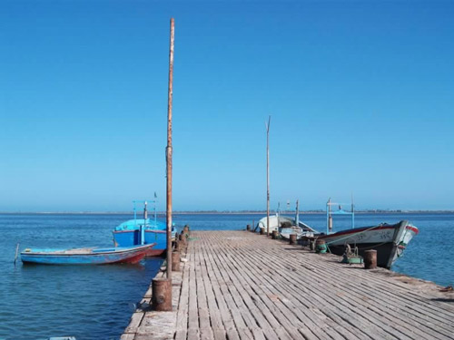 the jetty of the fishing village of Abu-Kammash