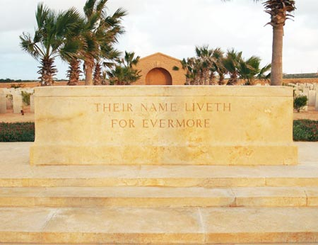 English cemetery in Tobruk