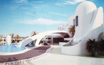 a closer view of Zuwarah beach hotel