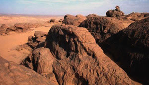 Akakus rock formations