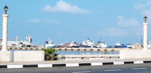 the seaport of Benghazi