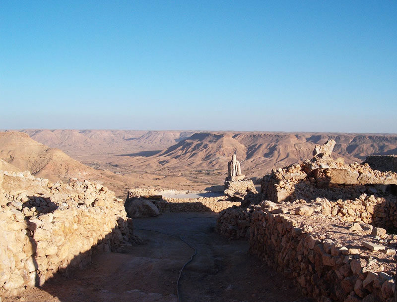Nalut mountains from above the city of Nalut