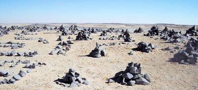 dark rocks of the sahara