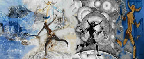 Digital Mix of Saharan Prehistoric Paintings