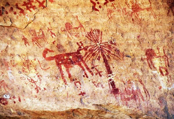 Man Made Cave Art : Tin newen prehistoric rock paintings cave drawings