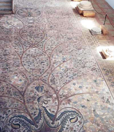 the church mosaic floor