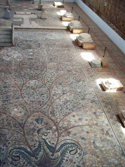 the church mosaic floor