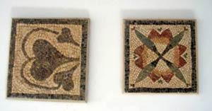 mosaic designs: petals and leaves