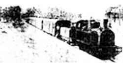 a black and white photo of a train from 1940s Libya